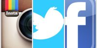 Instagram Twitter Facebook Collage Logo