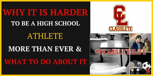 hard as a high school athlete