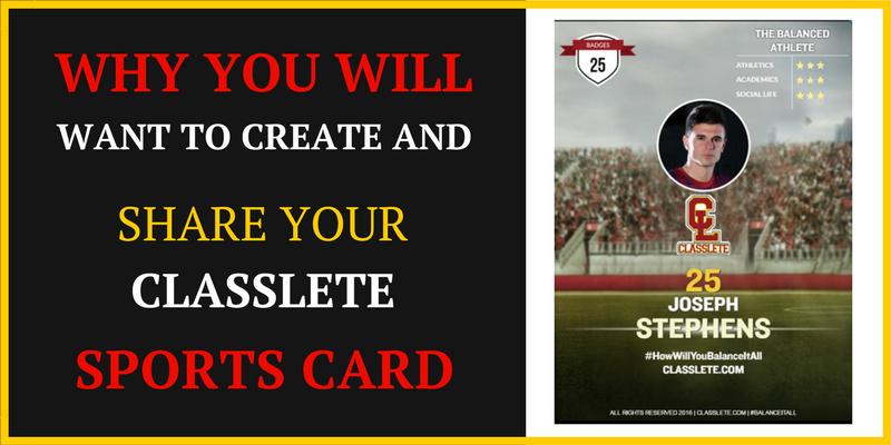 high school sports card