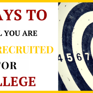 signs you are being recruited for college