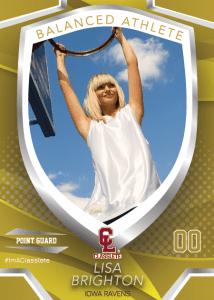 Primetime Bronze Classlete Sports Card Front Female Basketball Player