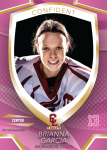 Primetime Sports Card Front Female Hockey Player