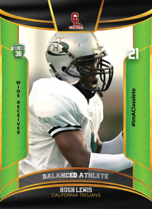 Royalty Light Green Classlete Sports Card Front Male Football Receiver