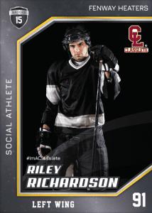 Celebrity Black Classlete Sports Card Front Male Hockey Player