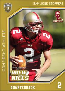 Celebrity Bronze Classlete Sports Card Front Male Football Quarterback