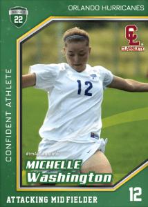 Celebrity Dark Green Classlete Sports Card Front Female Soccer Player
