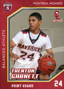Celebrity Dark Red Classlete Sports Card Front Male Black Basketball Player