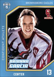 Celebrity Light Blue Classlete Sports Card Front Female Hockey Player