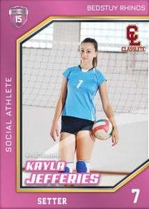 Celebrity Pink Sports Card Front Female Volleyball Player