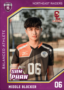 Celebrity Purple Classlete Sports Card Front Male Volleyball Player