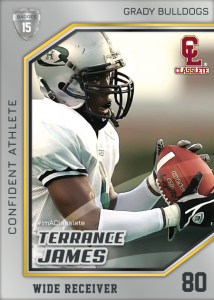 Celebrity Silver Classlete Sports Card Front Male Football Receiver