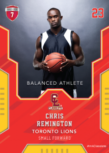Edgy Light Red Classlete Sports Card Front Male Basketball Player