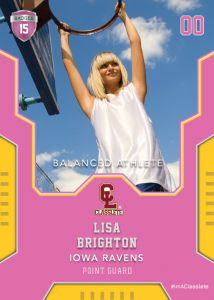 Edgy Pink Classlete Sports Card Front Female Basketball Player