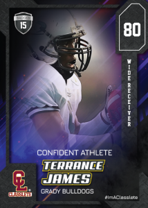 Flow Black Classlete Sports Card Front Male Black Football Player