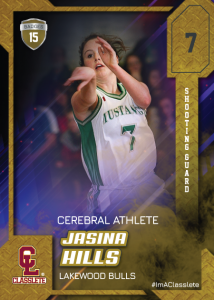 Flow Sports Card Front Female Basketball Player