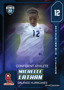 Flow Classlete Sports Card Front Female Soccer Player
