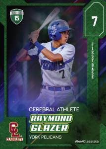 Flow Sports Card Front Male Baseball Player