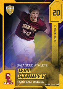 Flow Gold Classlete Sports Card Front Male White Soccer Player