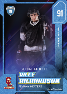 Flow Classlete Sports Card Front Male Hockey Player