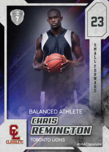 Flow Silver Classlete Sports Card Front Male Basketball Player