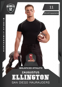 Future Black Classlete Sports Card Front Male Football Player