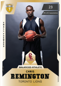 Future Gold Classlete Sports Card Front Male Basketball Player