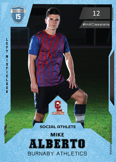 Future Light Blue Classlete Sports Card Front Male Soccer Player