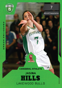 Future Light Green Classlete Sports Card Front Female White Basketball Player