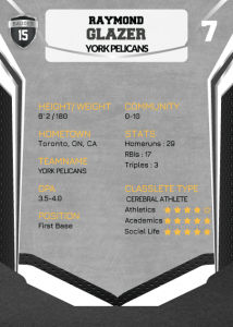 Jersey Black Classlete Sports Card Back Male Baseball Player