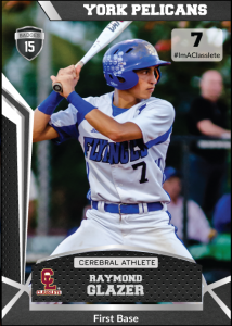 Jersey Black Classete Sports Card Front Male Baseball Player