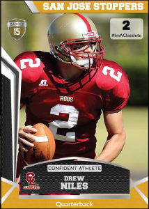 Jersey Bronze Classlete Sports Card Front Male Football Quarterback