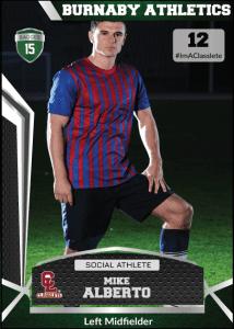 Jersey Dark Green Classlete Sports Card Front Male Soccer Player