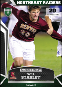 Jersey Dark Green Classlete Sports Card Front Male White Soccer Player