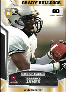 Jersey Gold Classlete Sports Card Front Male Football Receiver
