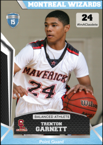 Jersey Light Blue Classlete Sports Card Front Male Black Basketball Player