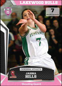 Jersey Pink Classlete Sports Card Front Female White Basketball Player
