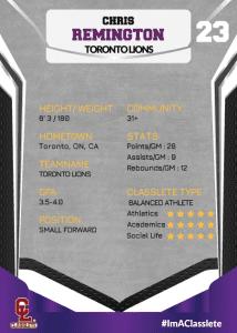 Jersey Purple Classlete Sports Card Back Male Basketball Player