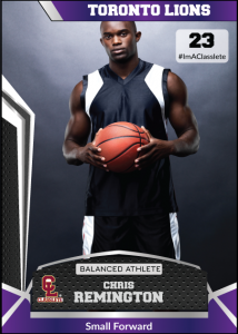 Jersey Purple Classlete Sports Card Front Male Basketball Player