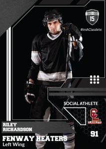 Levels Classlete Sports Card Front Male Hockey Player