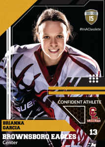 Levels Sports Card Front Female Hockey Player