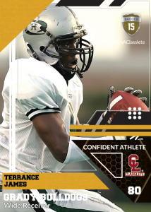 Levels Bronze Classlete Sports Card Front Male Football Receiver