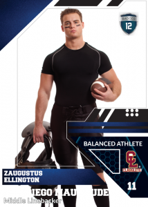 Levels Classlete Sports Card Front Male Football Player