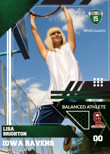 Levels Dark Green Classlete Sports Card Front Female Basketball Player