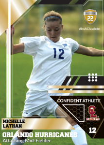 Levels Sports Card Front Female Soccer Player