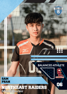 Levels Sports Card Front Male Volleyball Player