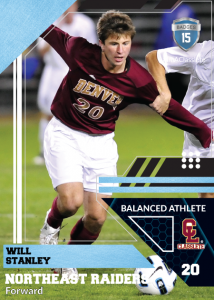 Levels Sports Card Front Male White Soccer Player