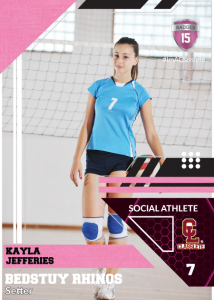 Levels Sports Card Front Female Volleyball Player