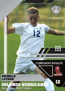 Levels Silver Classlete Sports Card Front Female Soccer Player
