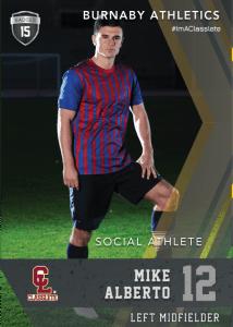 Maverick Black Classlete Sports Card Front Male Soccer Player