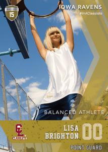 Maverick Bronze Classlete Sports Card Front Female Basketball Player